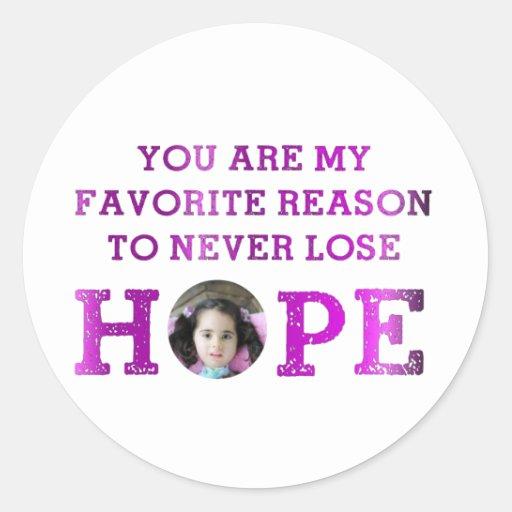 Never Lose Hope - Aubriana Classic Round Sticker