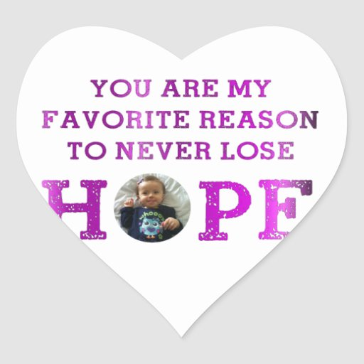 Never Lose Hope - Audrey Heart Sticker