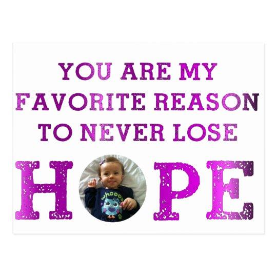 Never Lose Hope - Audrey Postcard