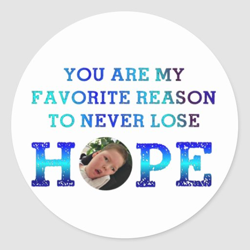 Never Lose Hope - Casey D Round Sticker
