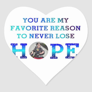 Never Lose Hope - Charlie Heart Stickers