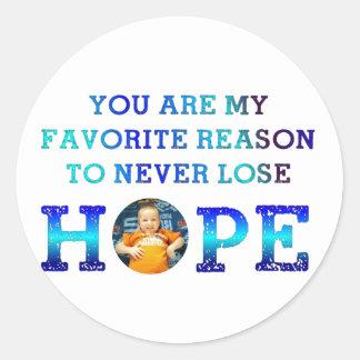 Never Lose Hope - Gavin M Classic Round Sticker
