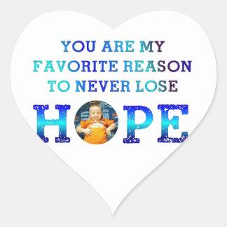 Never Lose Hope - Gavin M Heart Sticker