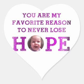 Never Lose Hope - Harper Heart Sticker