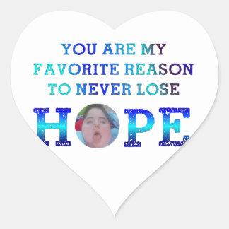 Never Lose Hope - JD Heart Sticker