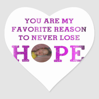 Never Lose Hope - Kaitlyn Heart Sticker