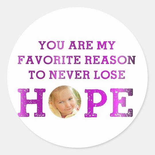 Never Lose Hope - Makenna Classic Round Sticker