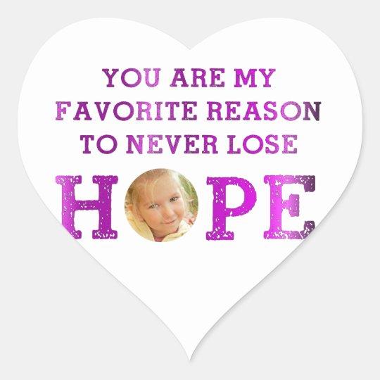 Never Lose Hope - Makenna Heart Sticker