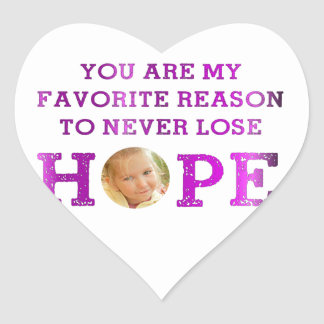 Never Lose Hope - Makenna Heart Stickers