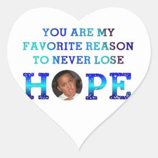 Never Lose Hope - Malik Heart Sticker
