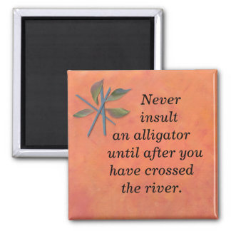 Never 2 Inch Square Magnet