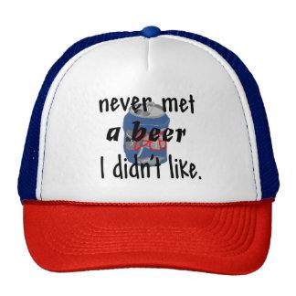 never met a beer Hat