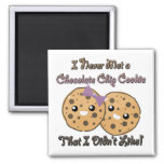 Never Met a Chocolate Chip Cookie Didnt Like Refrigerator Magnet