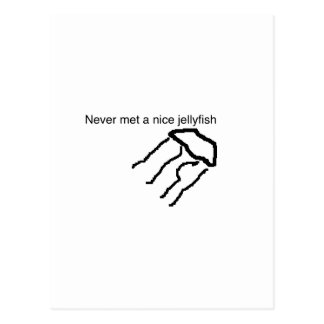 never met a nice jellyfish postcard