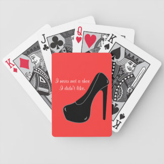 Never met a Shoe Bicycle Playing Cards