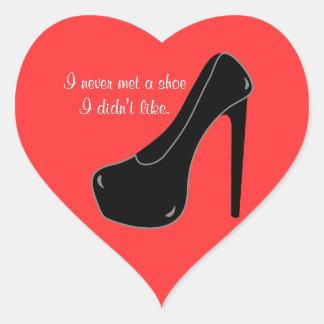 Never met a Shoe Heart Sticker