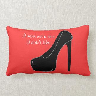 Never met a Shoe Lumbar Pillow