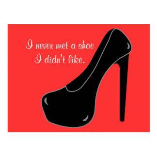 Never met a Shoe Postcard