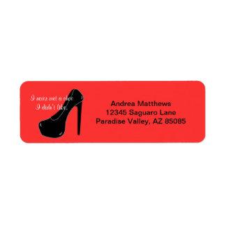 Never met a Shoe Return Address Label