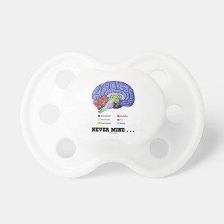 Never Mind ... (Brain Anatomy Psyche Humor) Baby Pacifiers