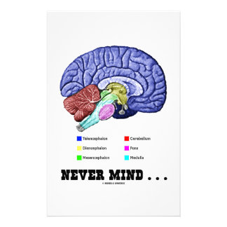 Never Mind ... (Brain Anatomy Psyche Humor) Stationery
