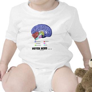 Never Mind ... (Brain Anatomy Psyche Humor) Bodysuit