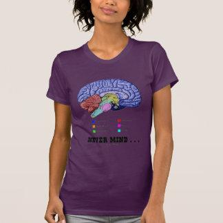 Never Mind ... (Brain Anatomy Psyche Humor) Tee Shirt