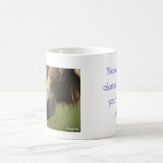 Never miss a chance coffee mug
