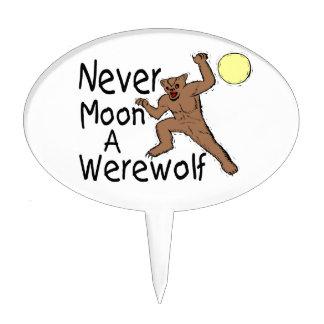 Never Moon A Werewolf Cake Topper