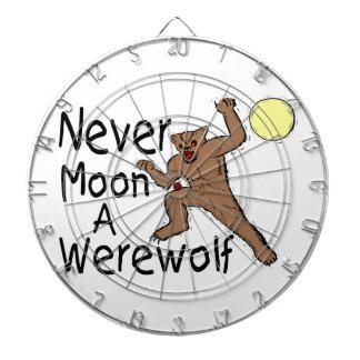 Never Moon A Werewolf Dartboard