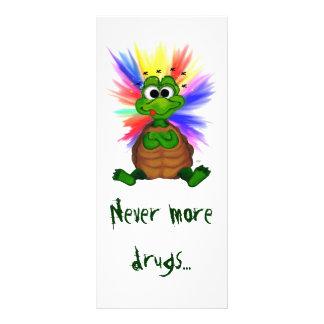 Never more drugs… rack card