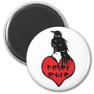 Never More Raven 2 Inch Round Magnet