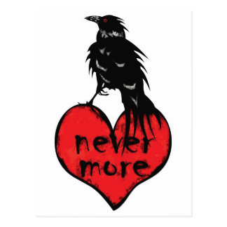 Never More Raven Postcard
