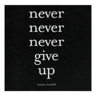 Never, Never Give Up Poster