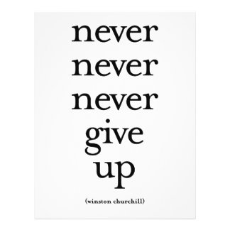 Never Never Never Give Up Flyer