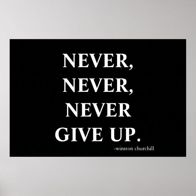 never lose faith never never never