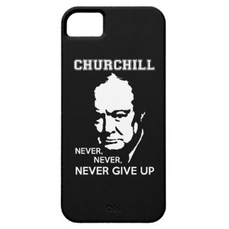 NEVER, NEVER NEVER GIVE UP WINSTON CHURCHILL QUOTE iPhone SE/5/5s CASE