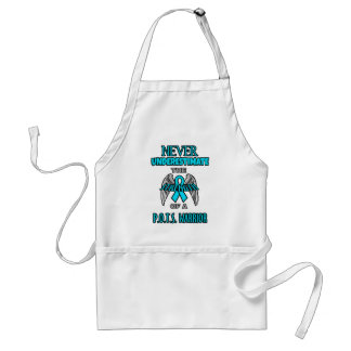 Never...P.O.T.S. Warrior Adult Apron