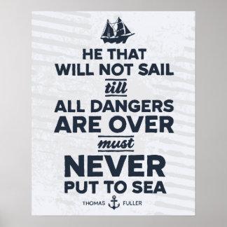 Never Put to Sea - Print