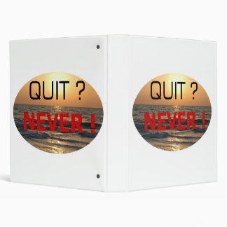 NEVER QUIT !! #002 3 RING BINDER
