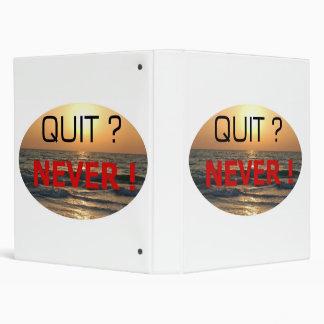 NEVER QUIT !! #002 3 RING BINDER