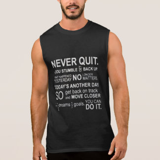 Never Quit Gym Motivation Tanks