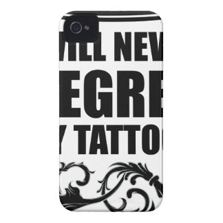Never Regret Tattoos iPhone 4 Cover