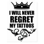 Never Regret Tattoos Postcard