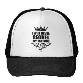 Never Regret Tattoos Trucker Hat