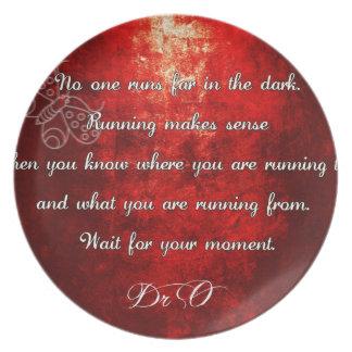 Never run alone. Stronger together! Melamine Plate
