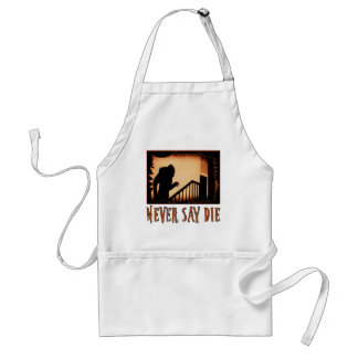 Never Say Die Nosferatu Halloween Tshirts, Appare Adult Apron