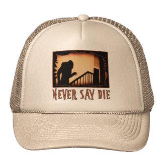 Never Say Die Nosferatu Halloween Tshirts, Appare Trucker Hat