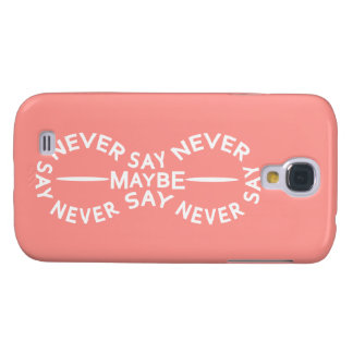 NEVER SAY NEVER custom color HTC case