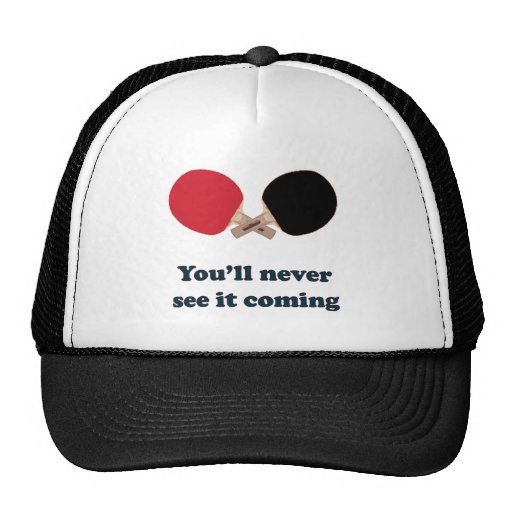 Never See It Coming Ping Pong Trucker Hat